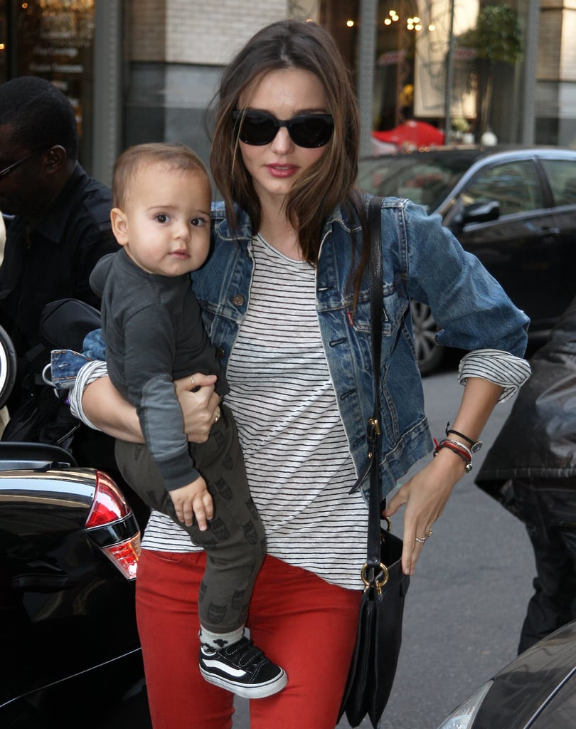Flynn was Miranda's cutest accessory in NYC in March 2012.