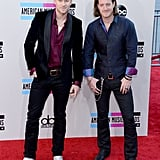 Brian Kelly and Tyler Hubbard of Florida Georgia Line struck a pose.