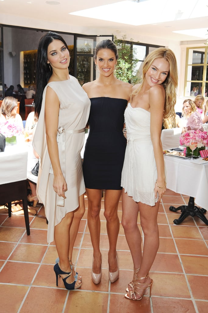 Adriana, Alessandra, & Candice Talk Bikini Shoots, Exotic Vacations, and Self Tanning at  Ladies Luncheon For Victoria's Secret