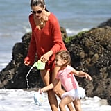 Alessandra Ambrosio Beach Pictures With Anja