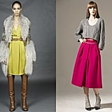 From left: Gucci and Preen Pre-Fall 2011