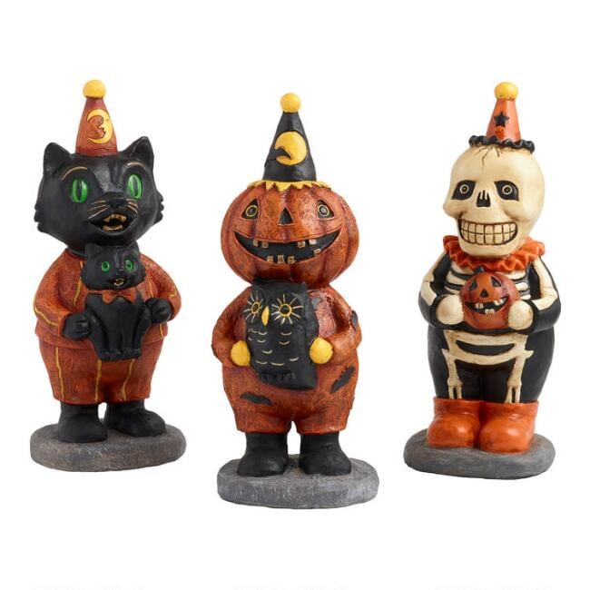 Vintage Halloween Tabletop Figures Set