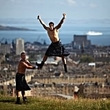 Kilt-wearing Chippendales performers promoted their Scottish show in 2009.
