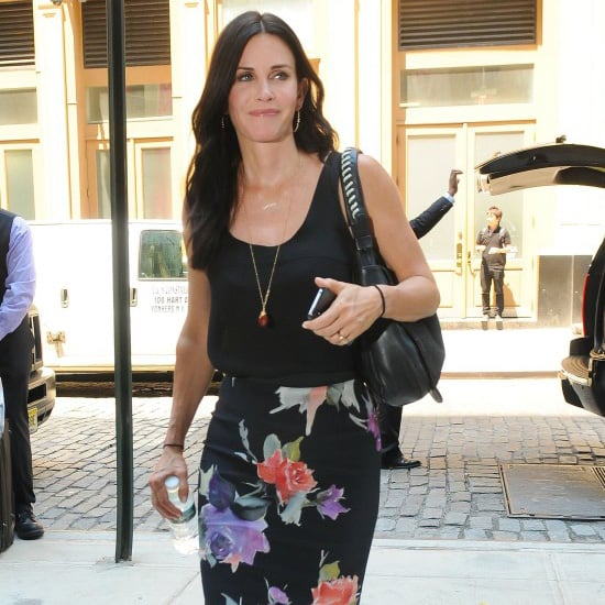 Courteney Cox Floral Pencil Skirt