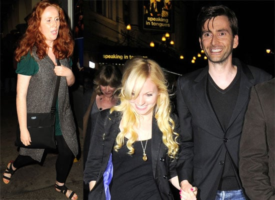 Photos of David Tennant, His Girlfriend Georgia Moffett and Doctor Who costar Catherine Tate Out in London