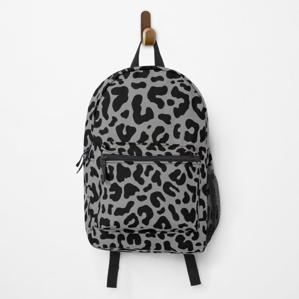 David Rose Leopard Print Backpack