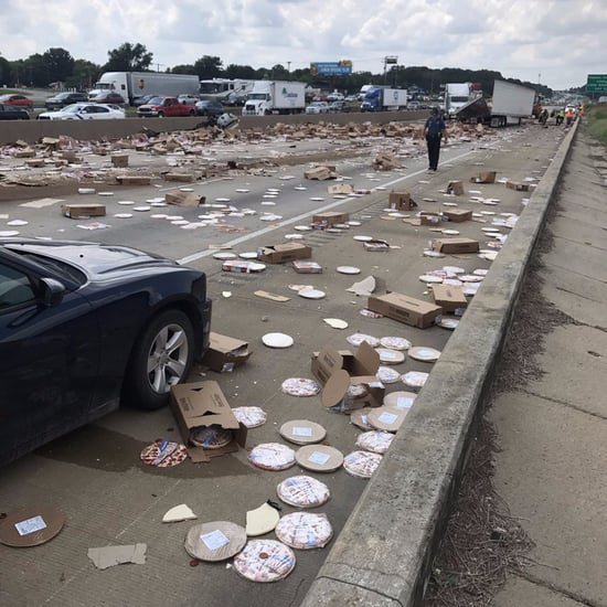 Frozen Pizzas Spill After Tractor Accident