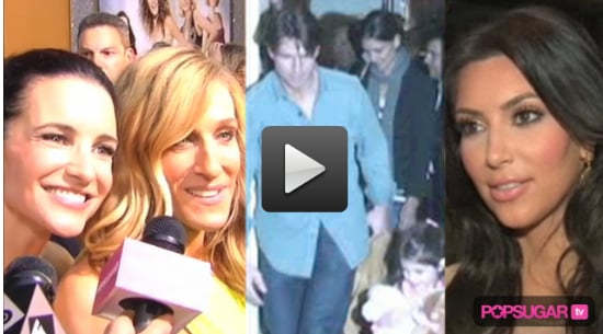 New Video of the Sex and the City 2 Premiere, Video of Suri Cruise With Tom and Katie, and Kim Kardashian Plastic Surgery Rumors