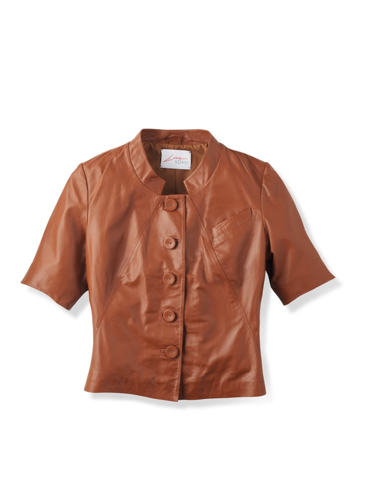 Love ADAM Leather Shrunken Jacket, $299.90