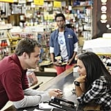 Kyle Bornheimer, Edi Gathegi, and Danielle Nicolet in Family Tools.