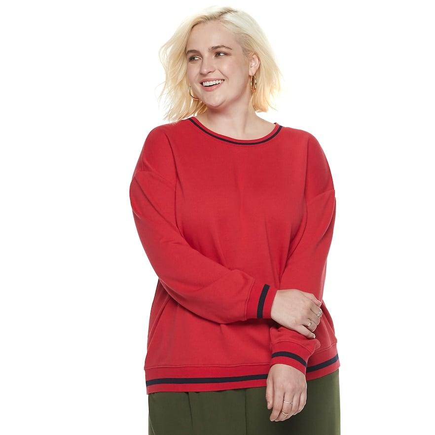 dd1e1dbb0c4 POPSUGAR at Kohl s Collection Striped-Trim Sweatshirt