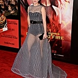 Jennifer Lawrence attended the Catching Fire LA premiere.