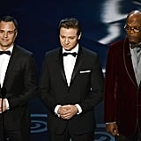 Mark Ruffalo, Jeremy Renner, and Samuel L. Jackson presented an award.