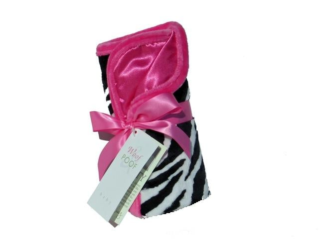 Zebra and Hot Pink Blanket ($48)