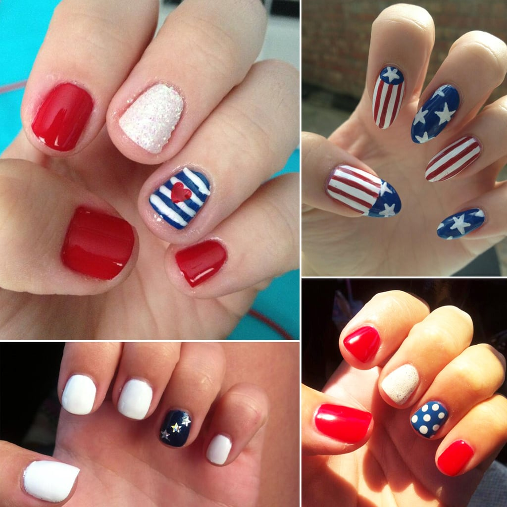 4th of july nail designs popsugar beauty even more inspiration for your july 4 nail art prinsesfo Choice Image