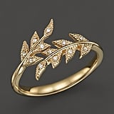 Mizuki Gold Branchlet Ring with Diamonds ($1,020)