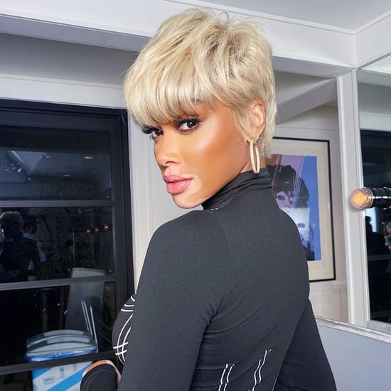Winnie Harlow Wears Platinum-Blonde Pixie Wig