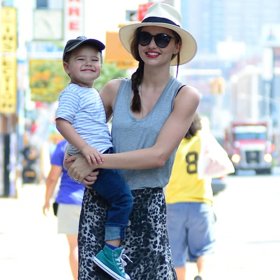 Miranda Kerr's Leopard Maxi Skirt Sasses Up Her Summer Style