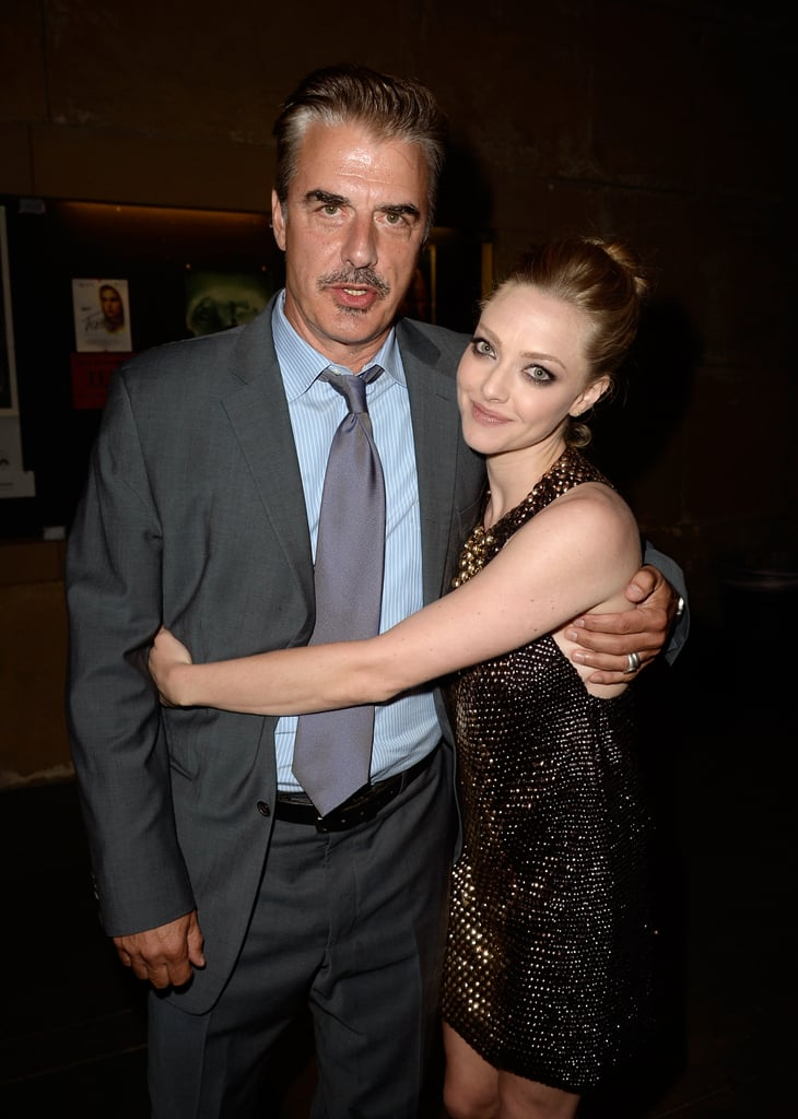 Amanda Seyfried cosied up to her Lovelace co-star, Chris Noth, at the film's premiere in Hollywood on August 6.
