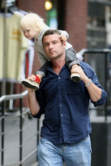 Liev and Sasha out for a stroll