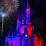 Catch the Fireworks Show in Front of Cinderella's Castle