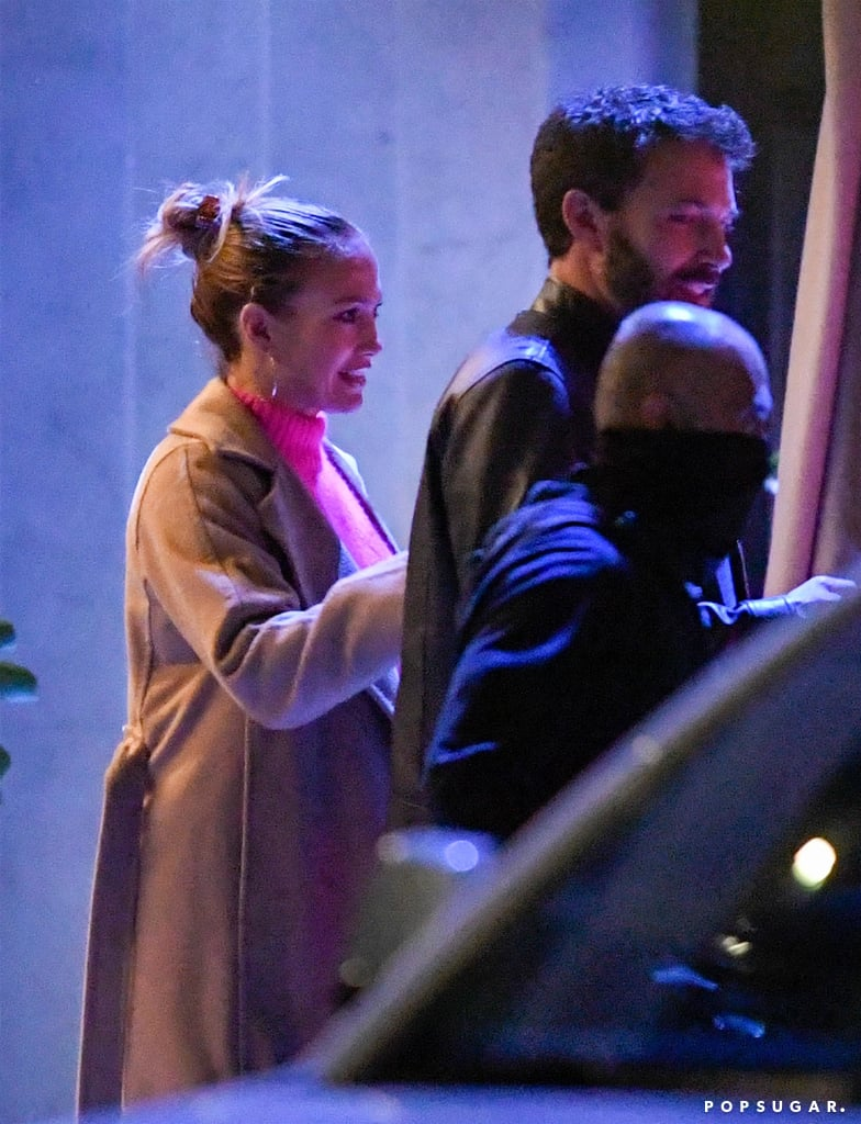 """If you still had any doubts that Jennifer Lopez and Ben Affleck are officially back together, we'll just let their recent date night do the talking. On Monday, the duo, who famously dated back in 2002, was spotted looking super cuddly as they made their way into Wolfgang Puck's new restaurant at the Pendry hotel in LA. Ben kept things casual in a T-shirt, jeans, and leather jacket, while Jennifer added a pop of colour to her wardrobe with a bright-pink jumper. The two looked completely at ease with each other as they held hands, stared lovingly into each other's eyes, and J Lo leaned into Ben's arms.  The recent outing comes after a whirlwind few weeks for the pair. Following Jennifer's split from Alex Rodriguez in April, the singer has been spending more and more time with Ben. Reports of their rekindled romance first broke in early May, and they were later spotted out together in Montana. While it's unclear what the exact status of their relationship is at the moment, it's obvious that they are getting pretty serious. """"They will continue to travel back and forth between Los Angeles and Miami,"""" a source told People. """"They are very happy together. This is not a casual relationship. They are taking it seriously and want it to be long-lasting."""" As you soak up that bit of news, see their latest outing together ahead.       Related:                                                                                                           These Photos of Jennifer Lopez and Ben Affleck Will Take You Way Back"""