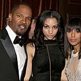 Django Unchained stars Jamie Foxx and Kerry Washington posed with Foxx's daughter Corinne Bishop.