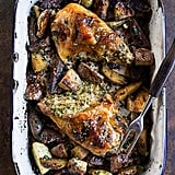Walnut-and-Brie-Stuffed Chicken Breasts With Roasted Potatoes