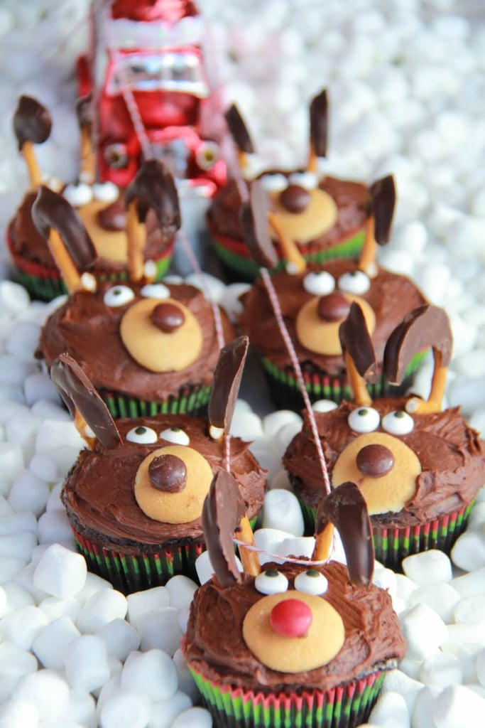 Chocolate Reindeer Cupcakes Holiday Cupcake Recipes