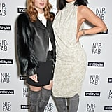 Made in Chelsea kept up with the Kardashians when Rosie Fortescue met Kylie Jenner at the Nip+Fab tea party.