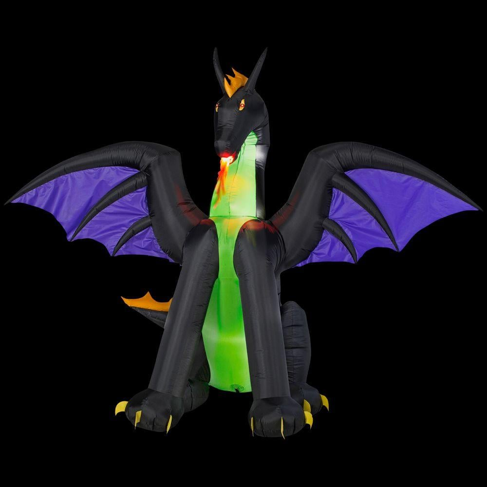 Inflatable Lighted Dragon with Flaming Mouth ($79)