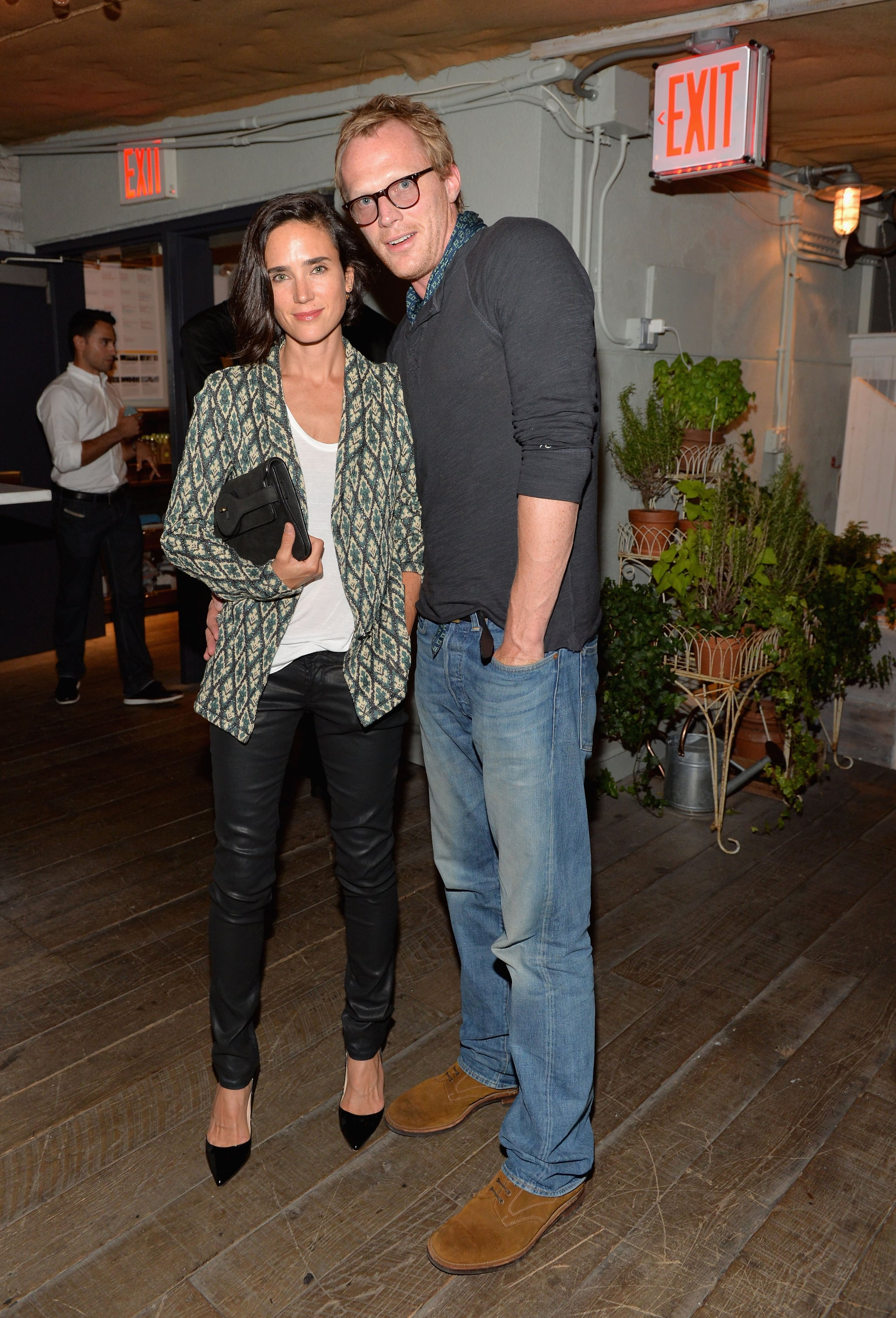 Jennifer Connelly and Paul Bettany at the Soho House 10th anniversary party in New York City.