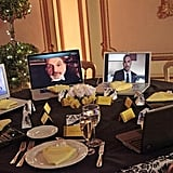 Some Skyping wedding guests (including Brian Austin Green!) on Happy Endings. Photo copyright 2012 ABC, Inc.