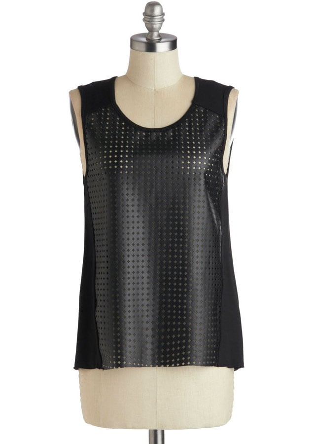 Lightweight leather? The oxymoron comes to life in this perforated tank ($25).