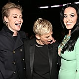 Portia de Rossi and Ellen DeGeneres goofed around with Katy Perry.