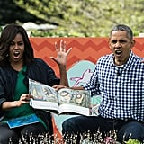 When they proved they've still got it with the little ones during an Easter reading of Where the Wild Things Are.