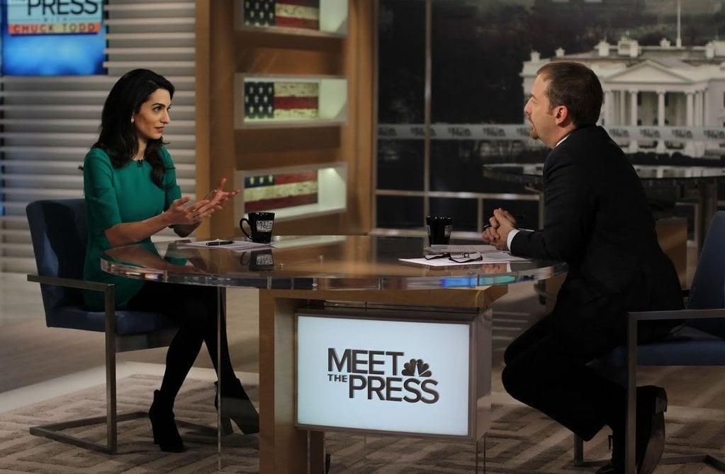 Amal Clooney Wearing a Green Dress