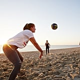 Join a beach volleyball game.