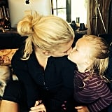 Jessica Simpson got a smooch from Maxwell in exchange for a Snickers Easter egg. Source: Instagram user jessicasimpson