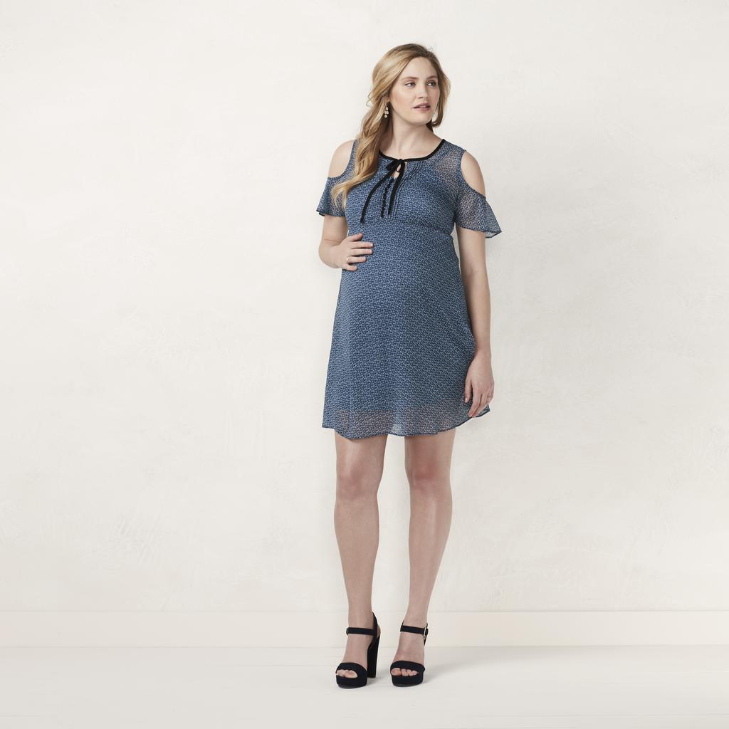 Cold-Shoulder Empire Dress ($47)