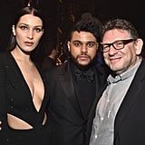 Pictured: Lucian Grainge, Bella Hadid, and The Weeknd