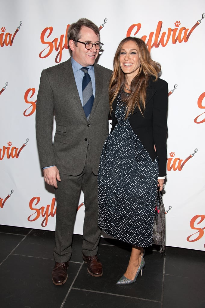 Sarah Jessica Parker was on hand to support her other half, Matthew Broderick, on his big night in NYC on Tuesday. Sarah, who wore a black and white polka dot dress, beamed as she posed for photos with her husband of 18 years at the opening night of his Broadway play Sylvia. Coincidentally, Sarah starred in the same production back in 1995 when it first debuted. Sarah and Matthew are avid Broadway show fans. In August,  the pair had a picture-perfect date night at the opening night of the musical Hamilton, and earlier this month, Sarah and Matthew looked so in love at the first showing of It's Only a Play, which Matthew also starred in. Keep reading to see more of Sarah and Matthew's evening on Broadway.