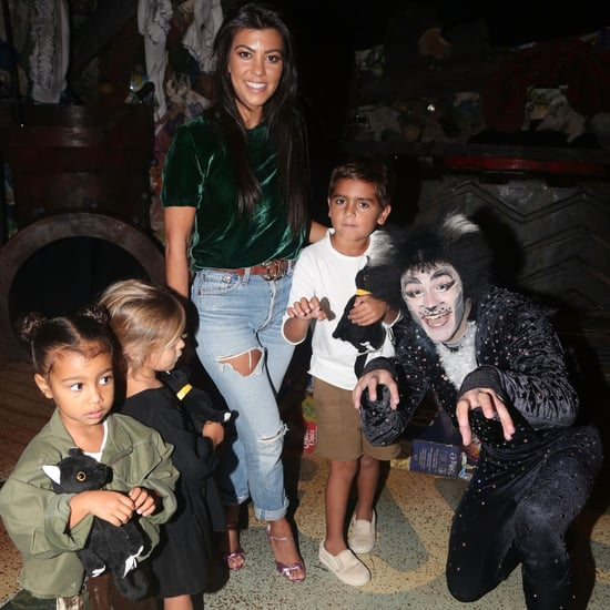 Kourtney Kardashian With Kids at Cats on Broadway Sept. 2016