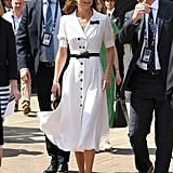 Kate Middleton's White Suzannah Dress at Wimbledon, July 2019
