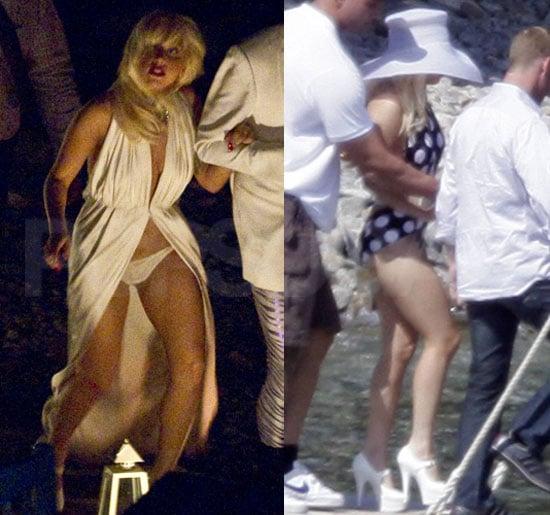 Pictures of Lady Gaga in a Bikini With Luc Carl in Greece