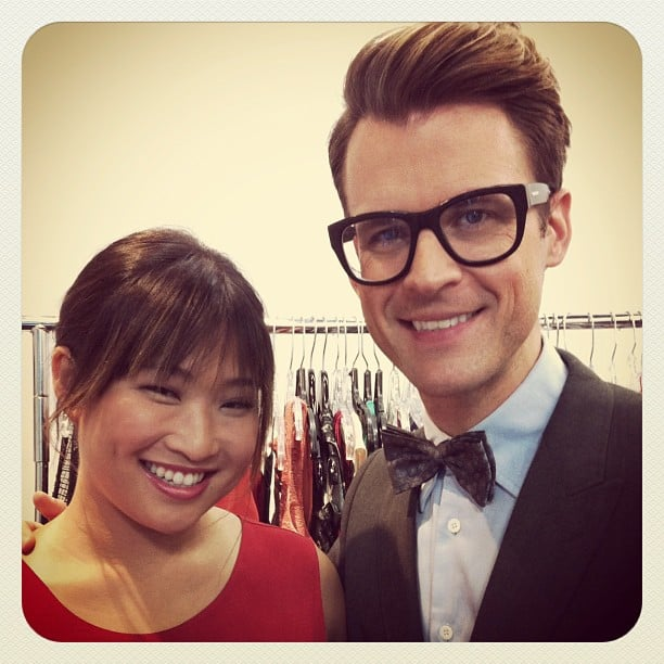 Brad Goreski shared a hug and photo with Jenna Ushkowitz.  Source: Instagram user mrbradgoreski