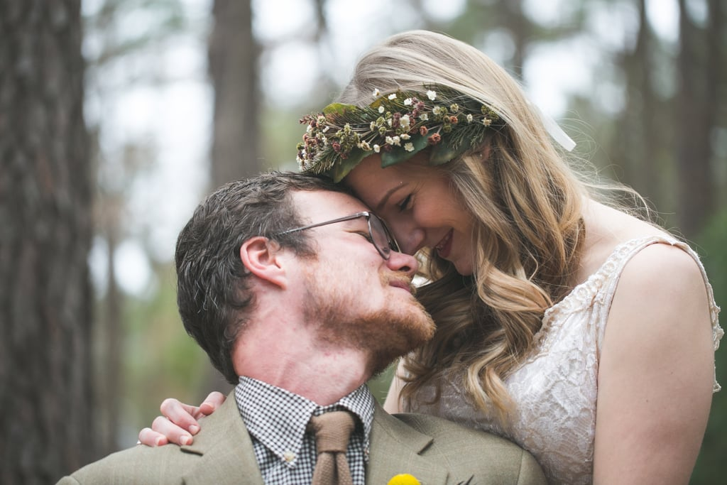 Laura and Matthew had a forest wedding in Texas, complete with DIY and sentimental details. See the wedding here!