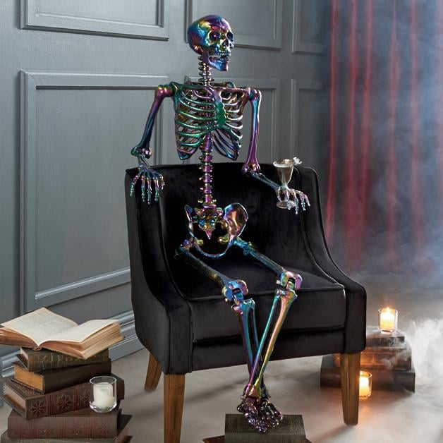 Shop Grandin Road's Life-Size Iridescent Halloween Skeleton