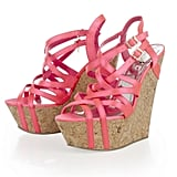 Pink fans will go wild for these wedges.  Lipsy Multi Strap Wedges (£85)