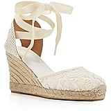 Soludos Lace Ankle Tie Espadrille Wedge Sandals (£75)